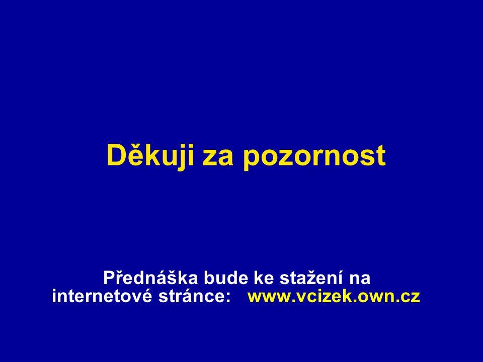 Přednáška bude ke stažení na internetové stránce: www.vcizek.own.cz