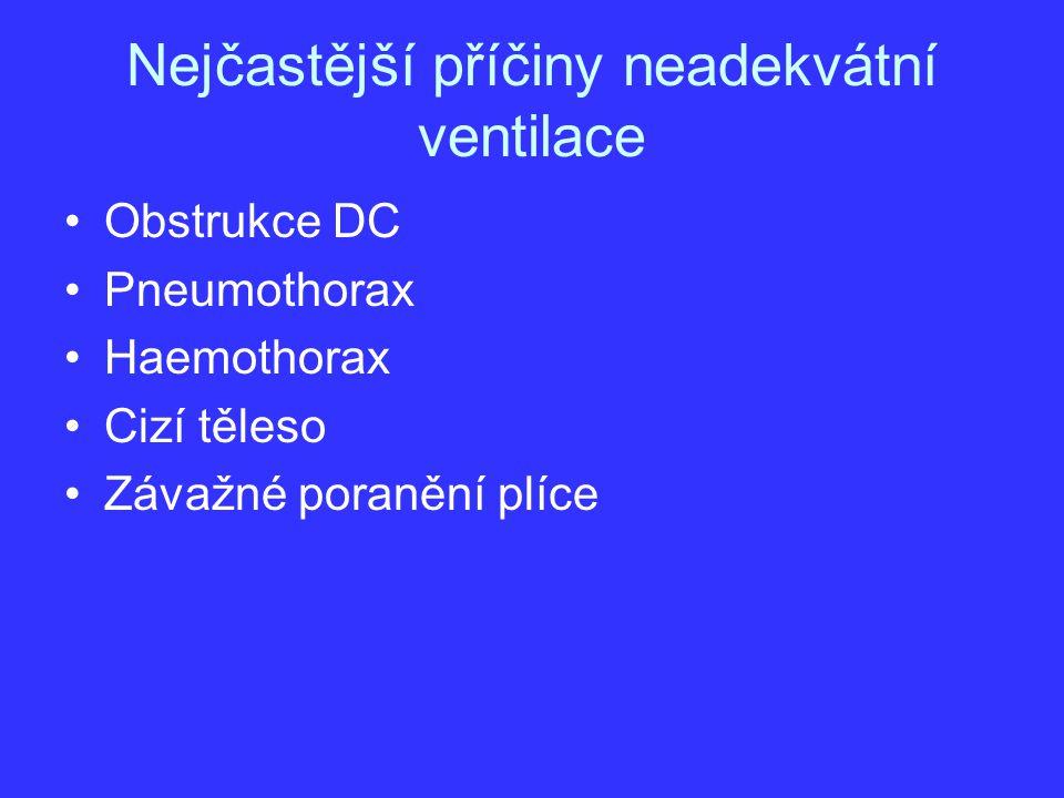Nejčastější příčiny neadekvátní ventilace