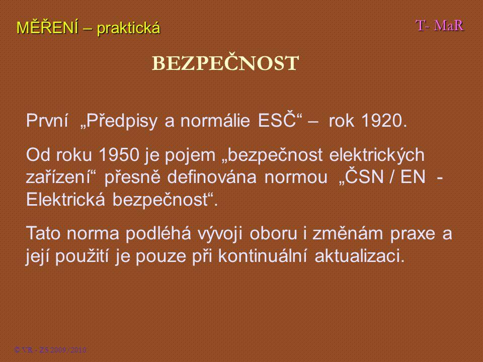 """BEZPEČNOST První """"Předpisy a normálie ESČ – rok 1920."""