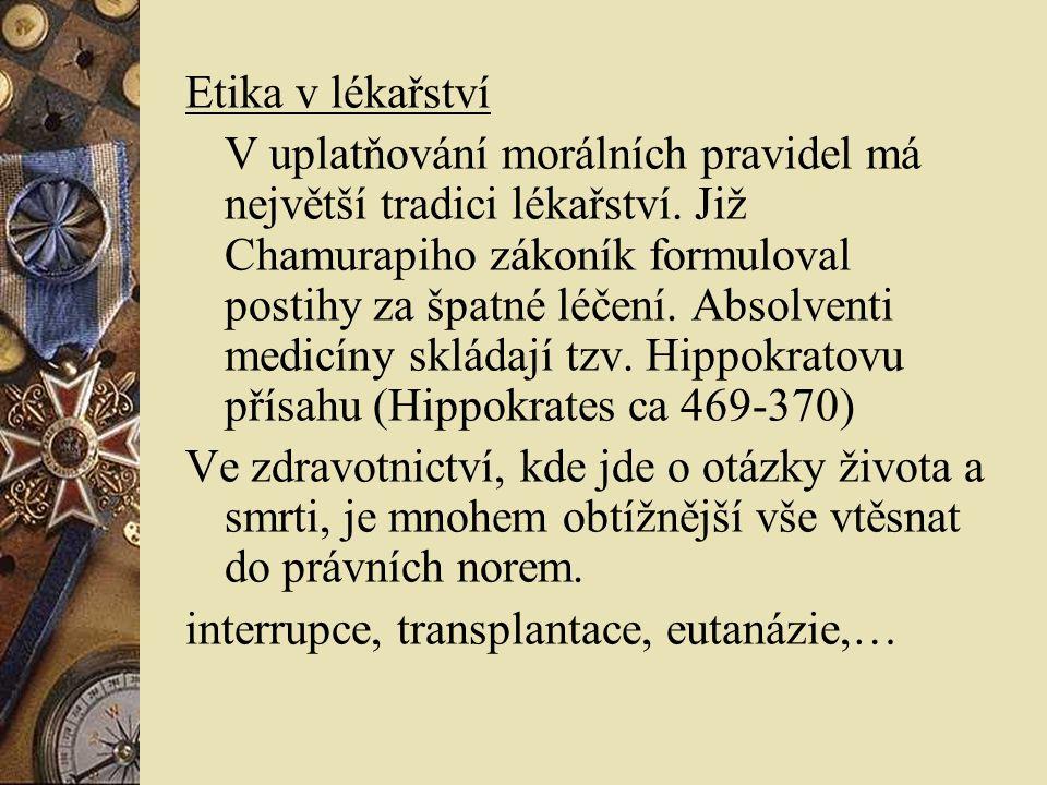 Etika v lékařství