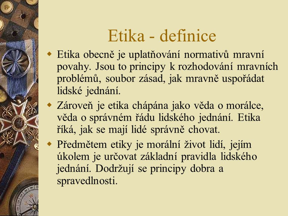 Etika - definice