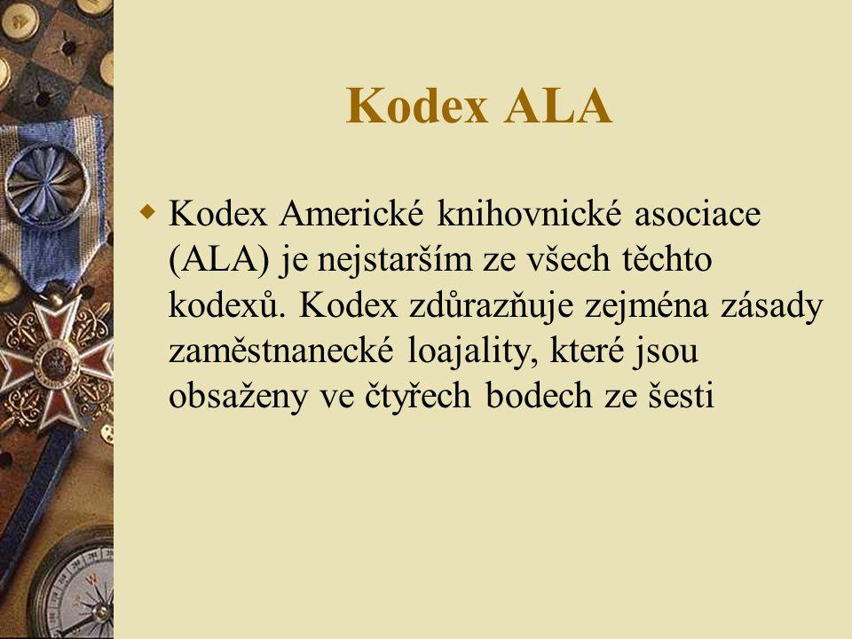Kodex ALA