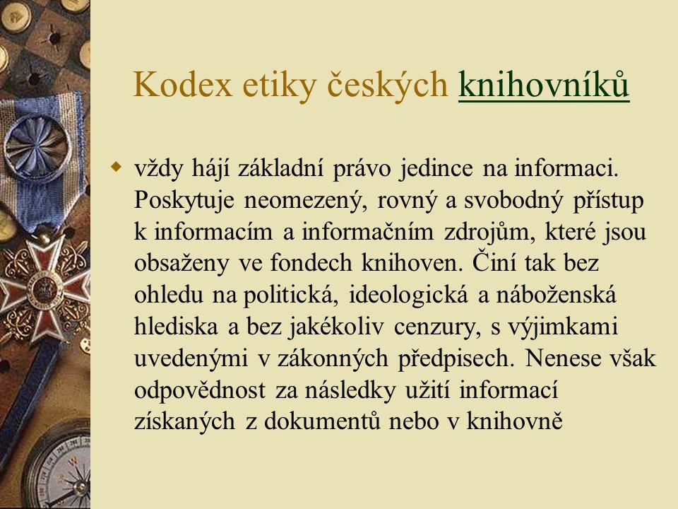 Kodex etiky českých knihovníků