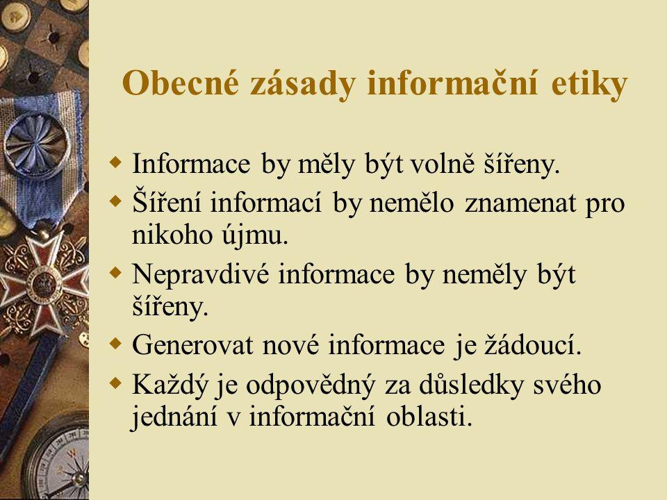 Obecné zásady informační etiky