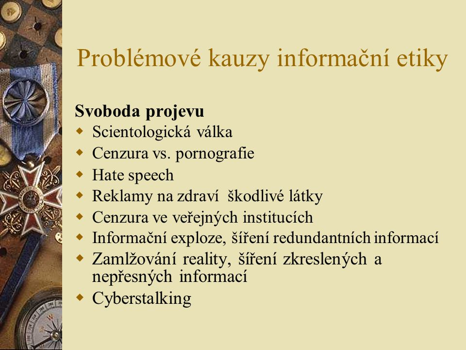Problémové kauzy informační etiky
