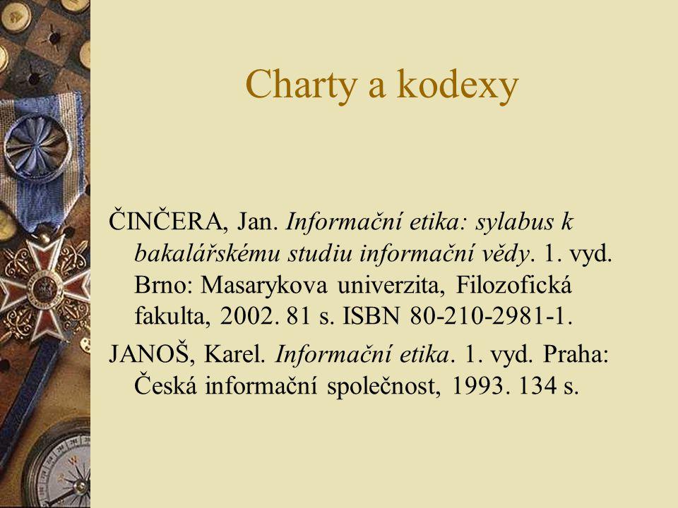 Charty a kodexy