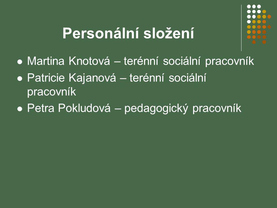 Personální složení Martina Knotová – terénní sociální pracovník