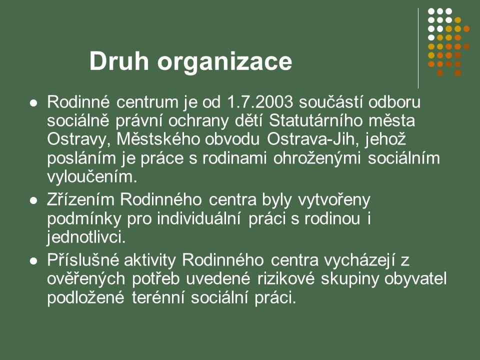 Druh organizace
