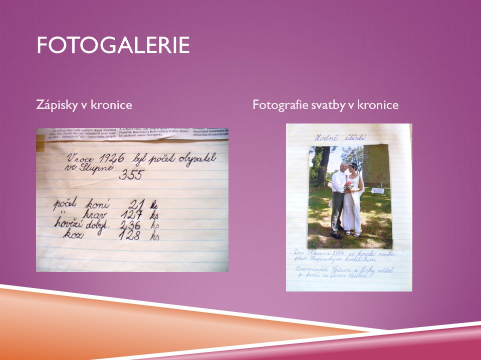 Fotogalerie Zápisky v kronice Fotografie svatby v kronice