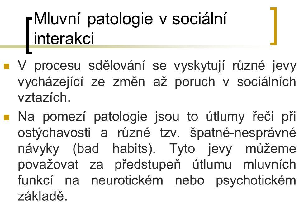 Mluvní patologie v sociální interakci