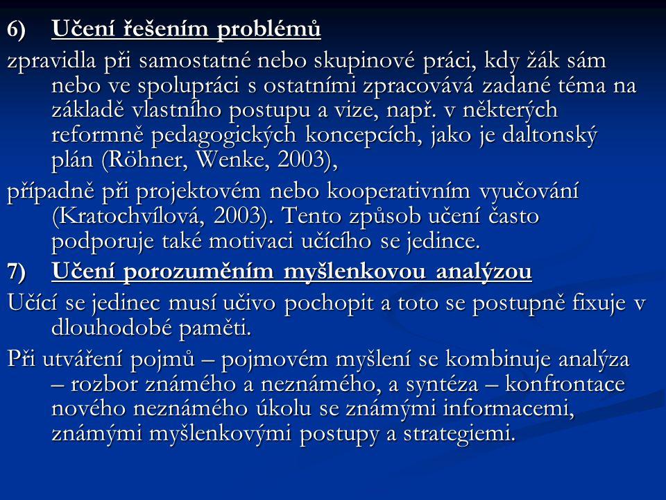 Učení řešením problémů