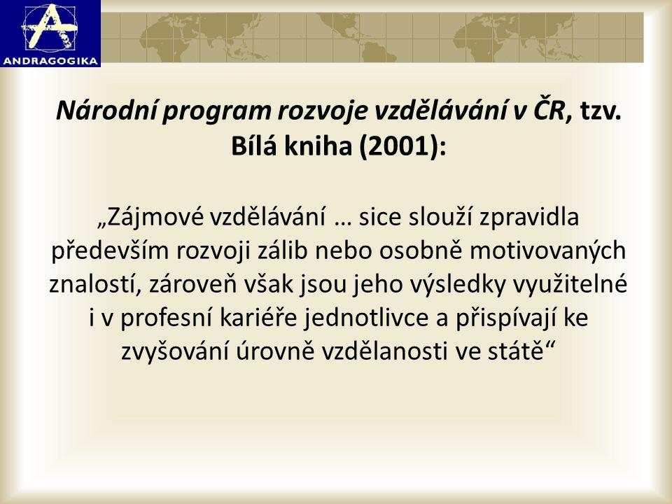 Národní program rozvoje vzdělávání v ČR, tzv. Bílá kniha (2001):