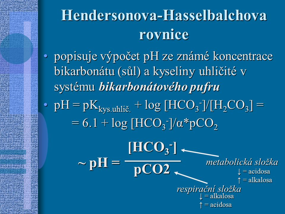 Hendersonova-Hasselbalchova rovnice