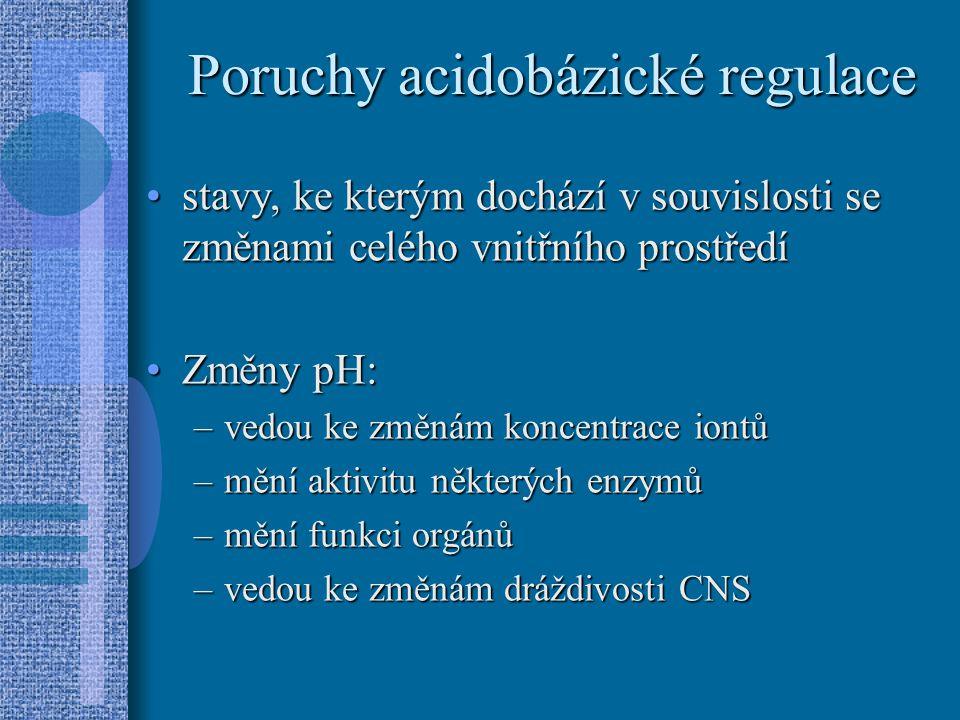 Poruchy acidobázické regulace