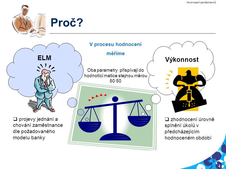 Proč Hodnocení zaměstnanců /EMR/ je komplexním nástrojem