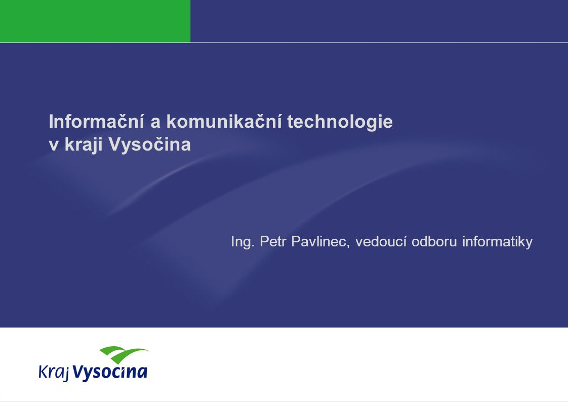 Informační a komunikační technologie v kraji Vysočina