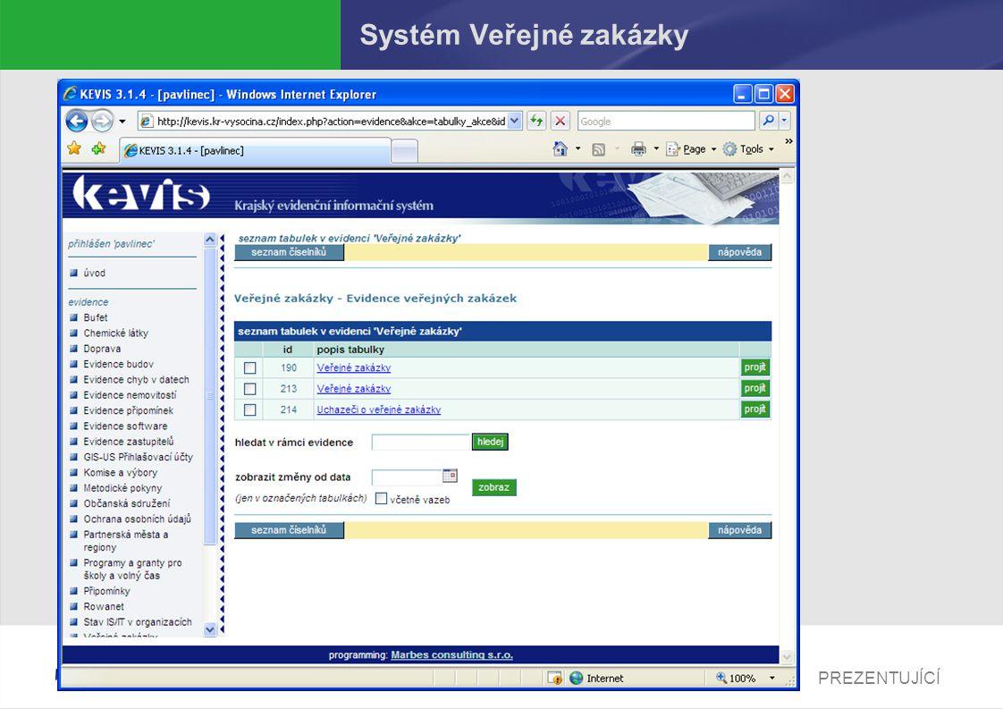 Systém Veřejné zakázky
