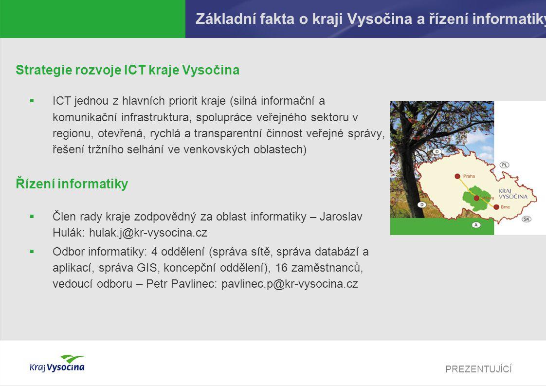 Základní fakta o kraji Vysočina a řízení informatiky