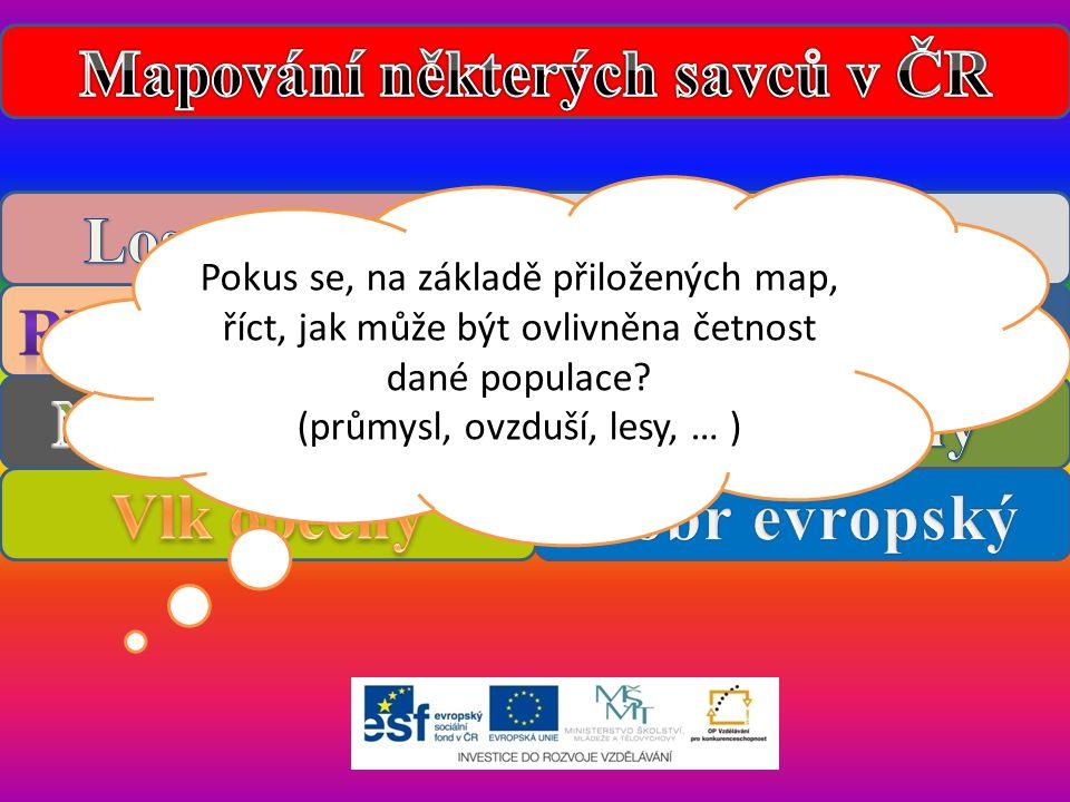 Mapování některých savců v ČR