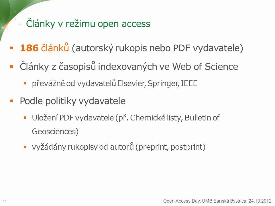 Články v režimu open access