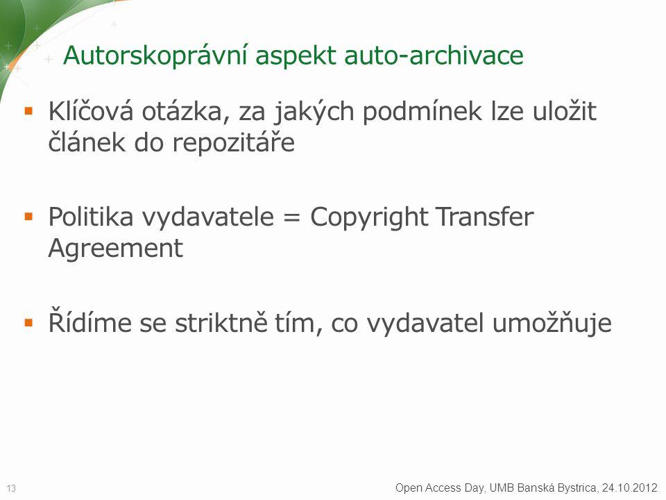 Autorskoprávní aspekt auto-archivace