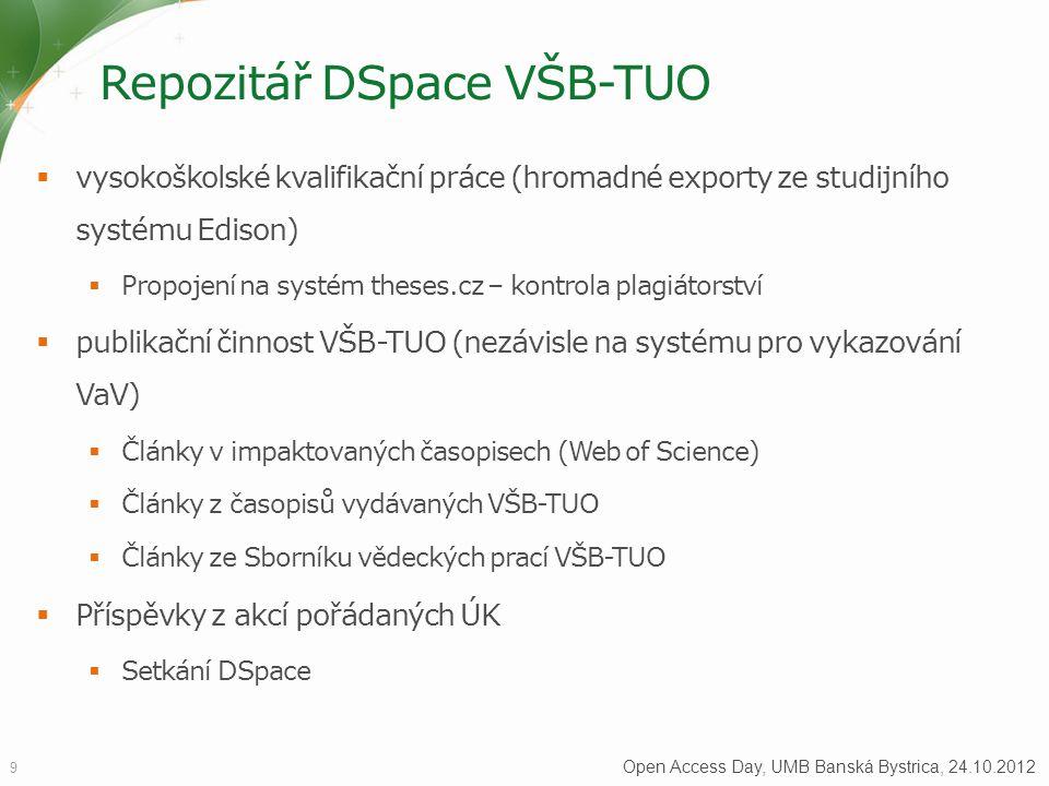 Repozitář DSpace VŠB-TUO