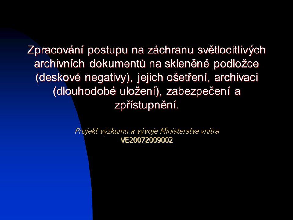 Projekt výzkumu a vývoje Ministerstva vnitra VE20072009002