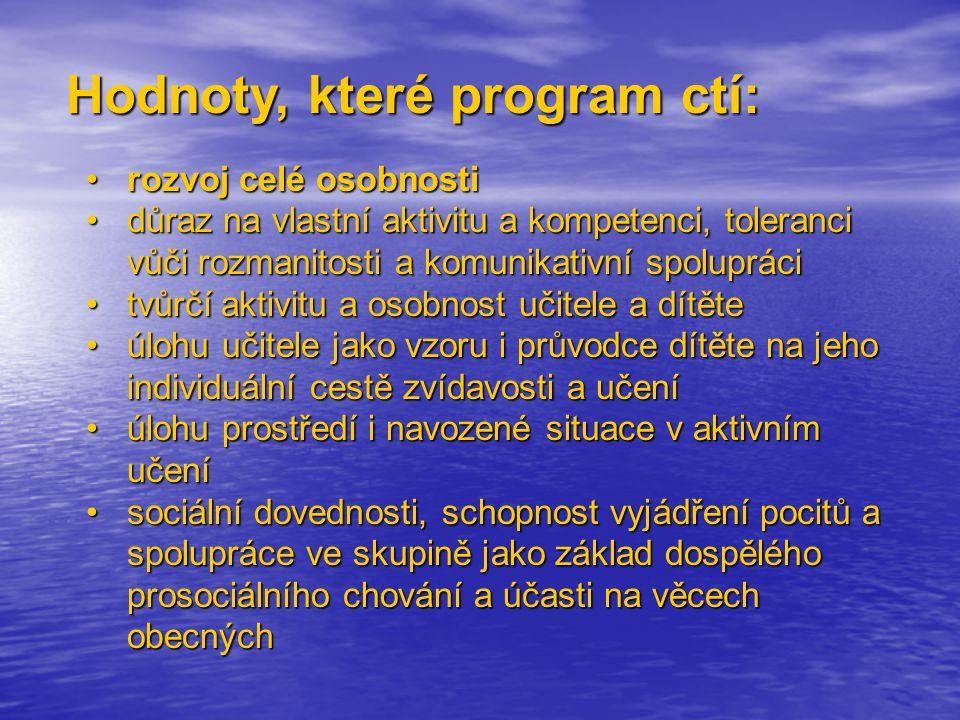 Hodnoty, které program ctí:
