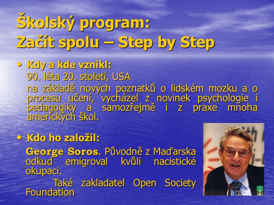 Školský program: Začít spolu – Step by Step