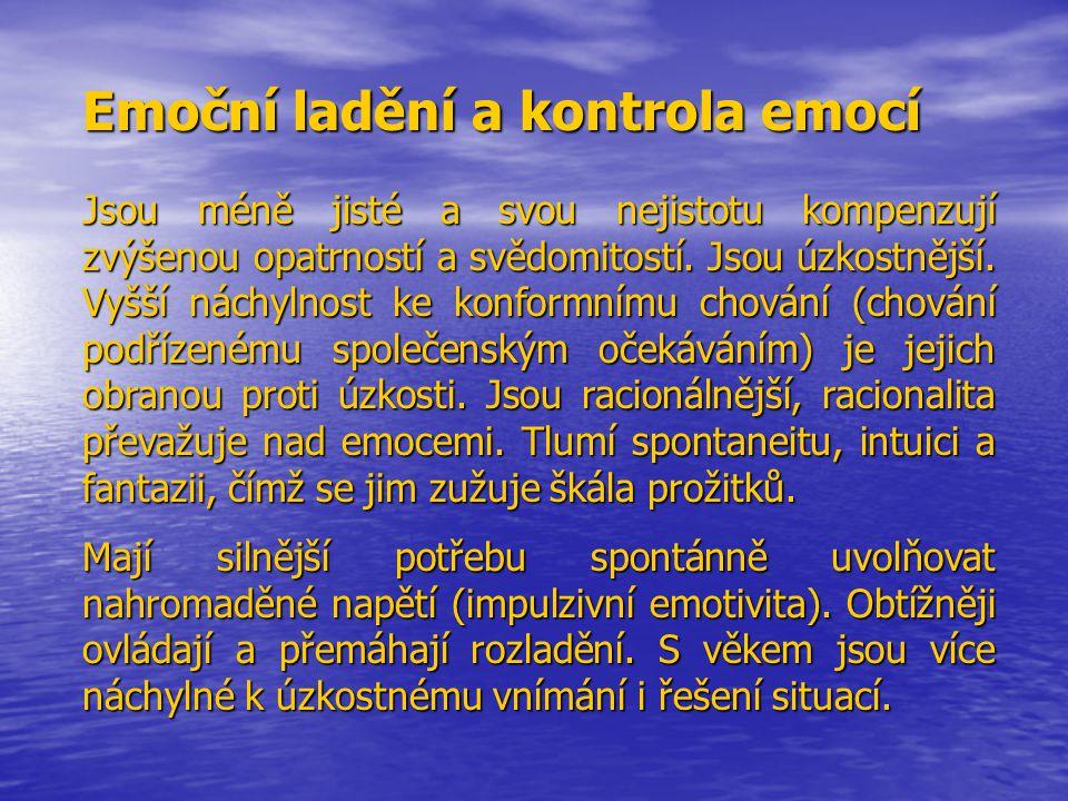 Emoční ladění a kontrola emocí