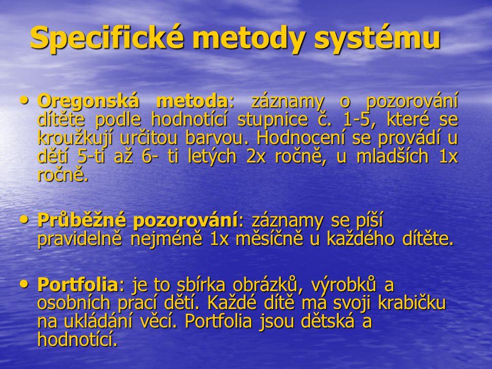 Specifické metody systému
