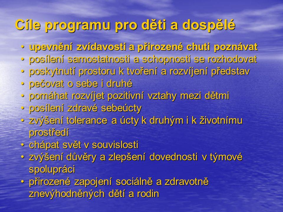 Cíle programu pro děti a dospělé