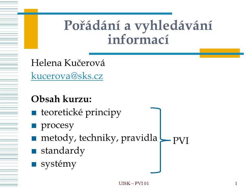 Pořádání a vyhledávání informací