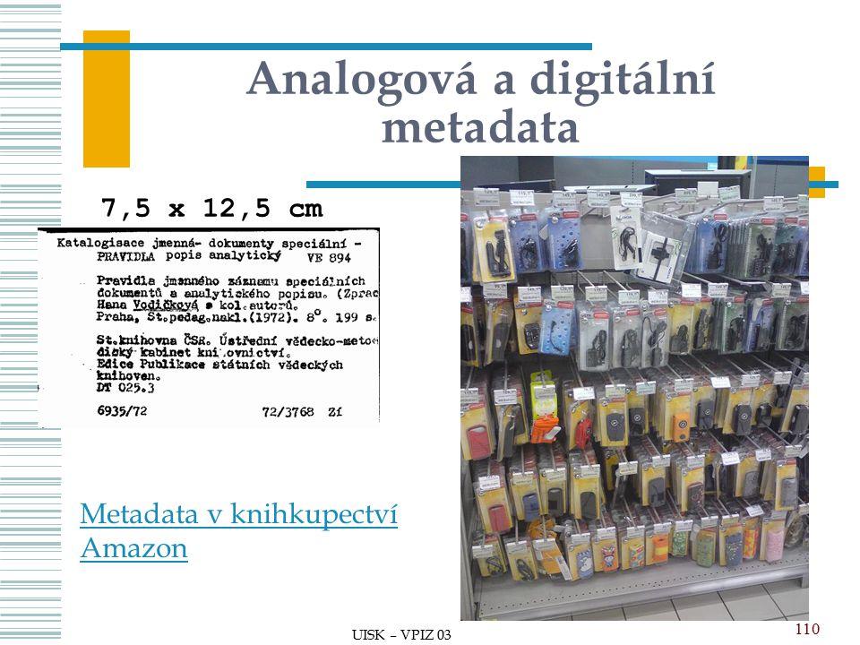 Analogová a digitální metadata