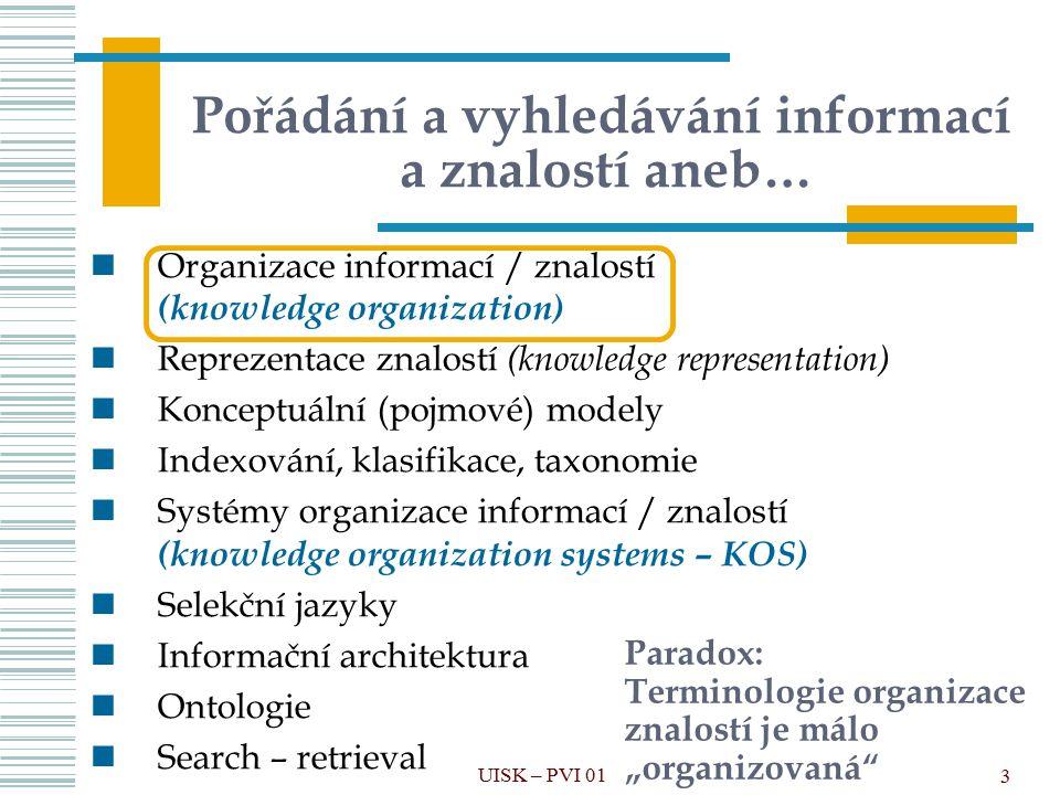 Pořádání a vyhledávání informací a znalostí aneb…