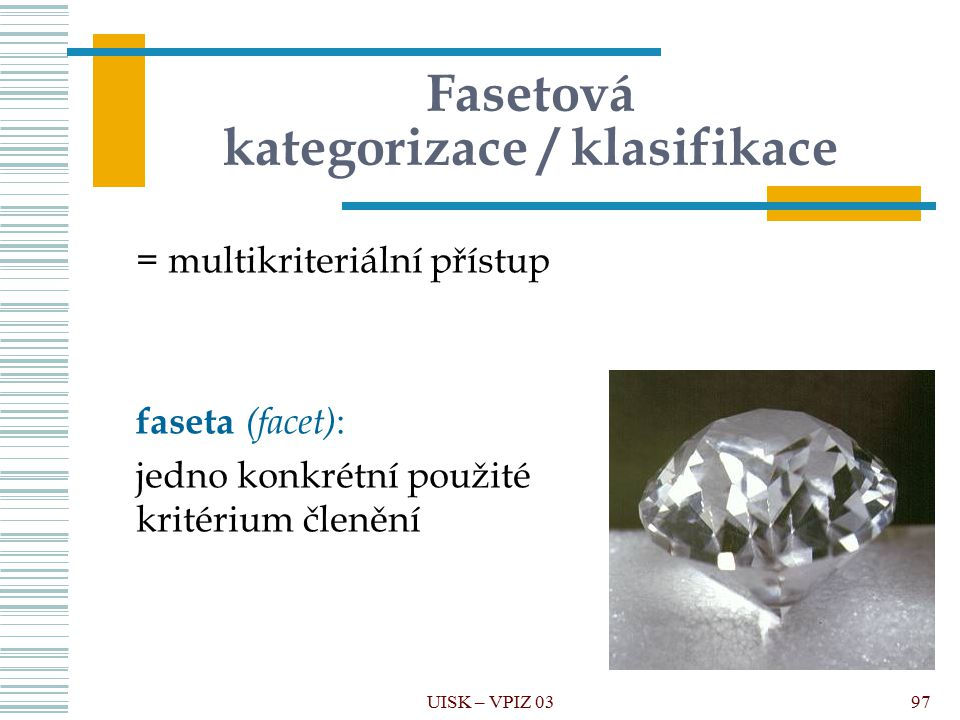 Fasetová kategorizace / klasifikace