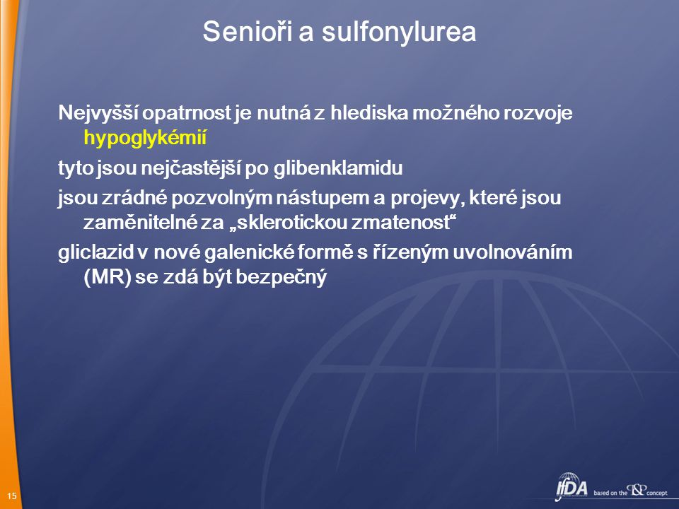 Senioři a sulfonylurea