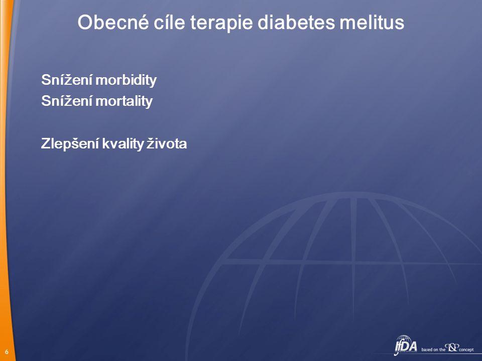 Obecné cíle terapie diabetes melitus