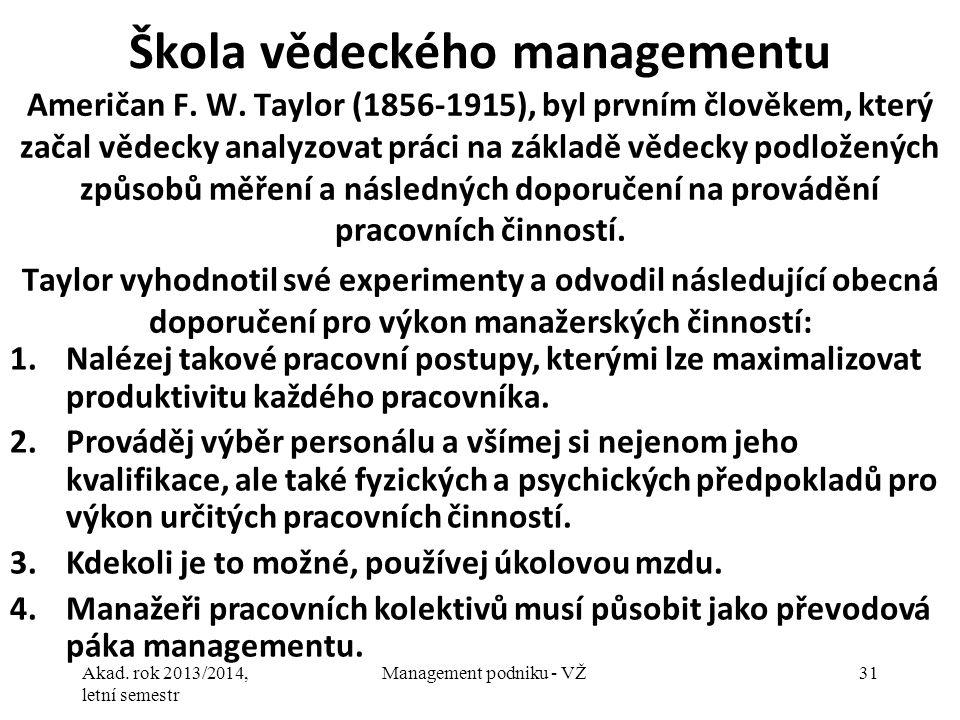 Škola vědeckého managementu