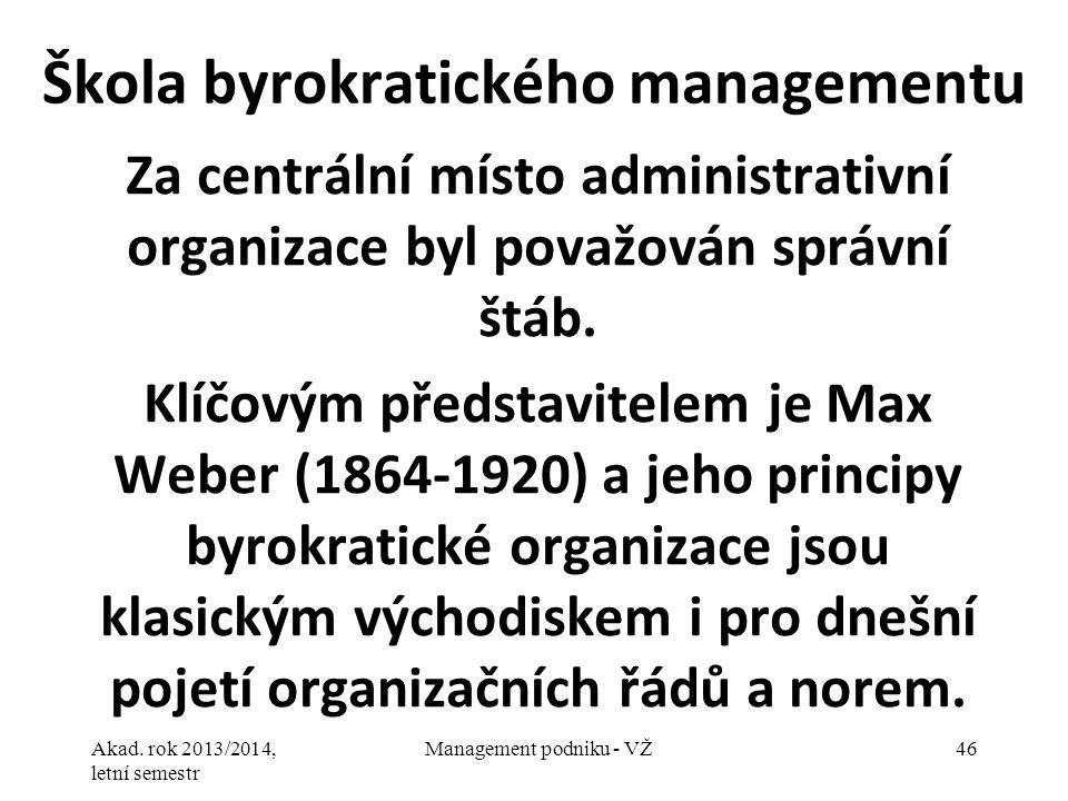 Škola byrokratického managementu