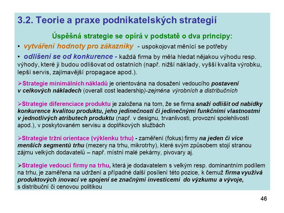 Úspěšná strategie se opírá v podstatě o dva principy: