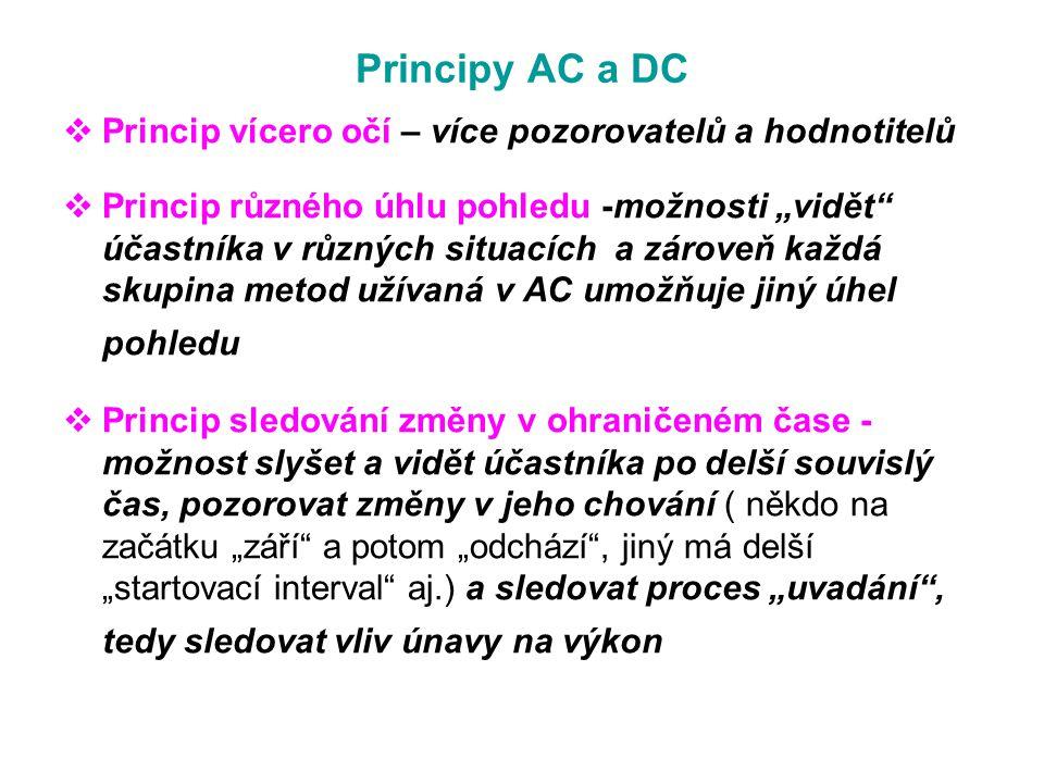 Principy AC a DC Princip vícero očí – více pozorovatelů a hodnotitelů