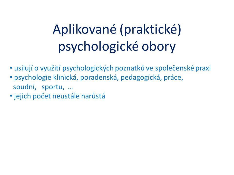 Aplikované (praktické) psychologické obory