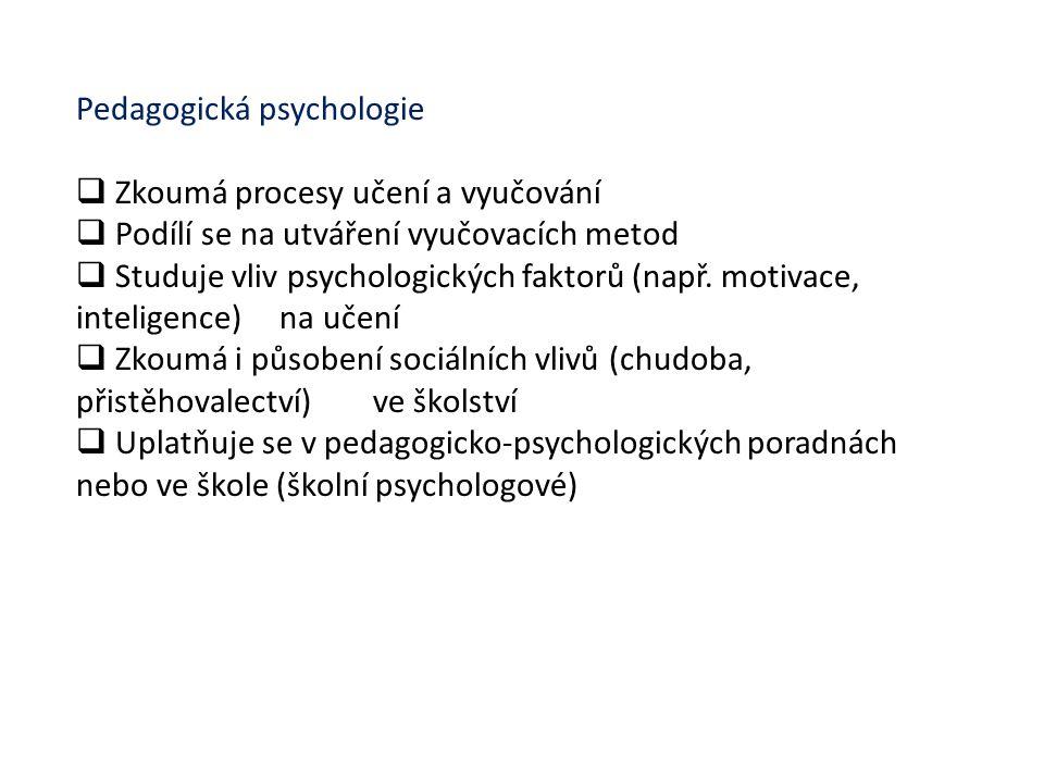 Pedagogická psychologie