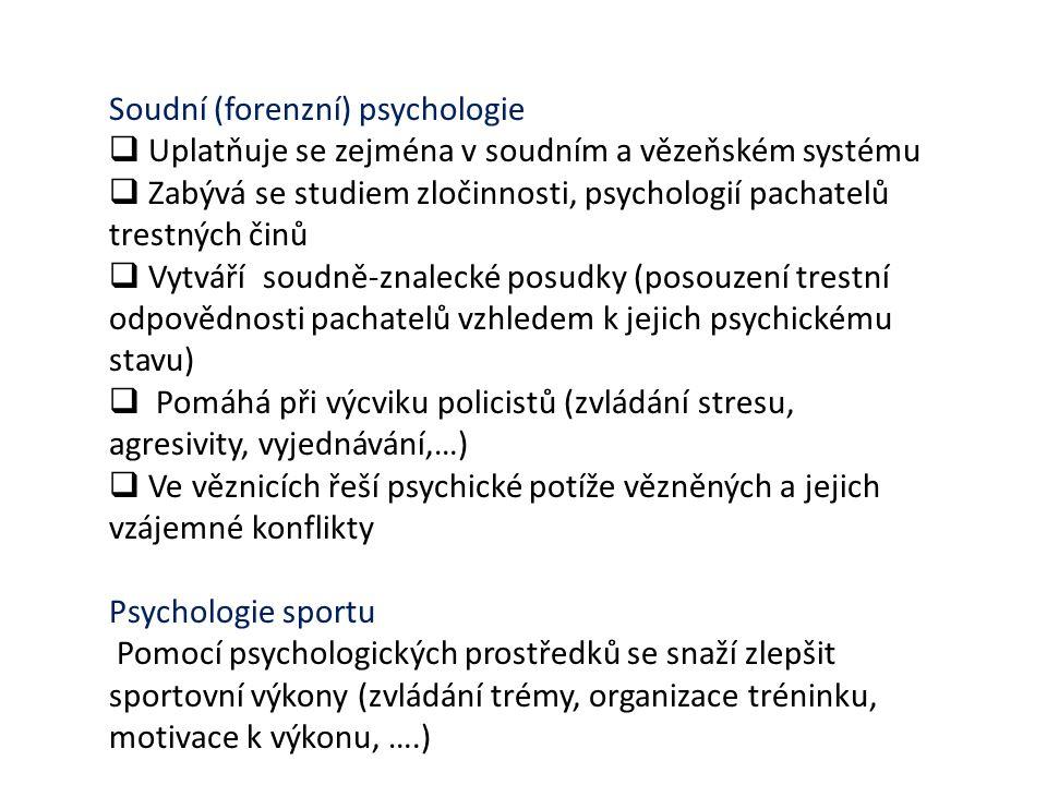 Soudní (forenzní) psychologie