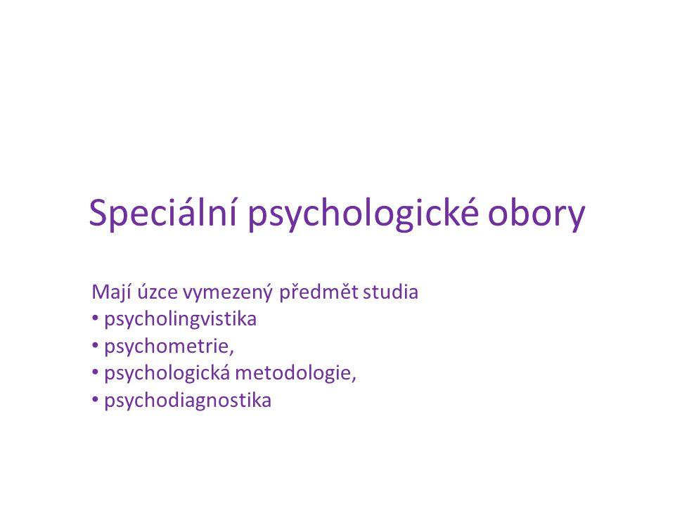 Speciální psychologické obory