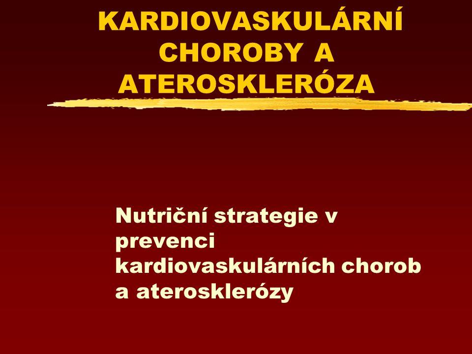 KARDIOVASKULÁRNÍ CHOROBY A ATEROSKLERÓZA