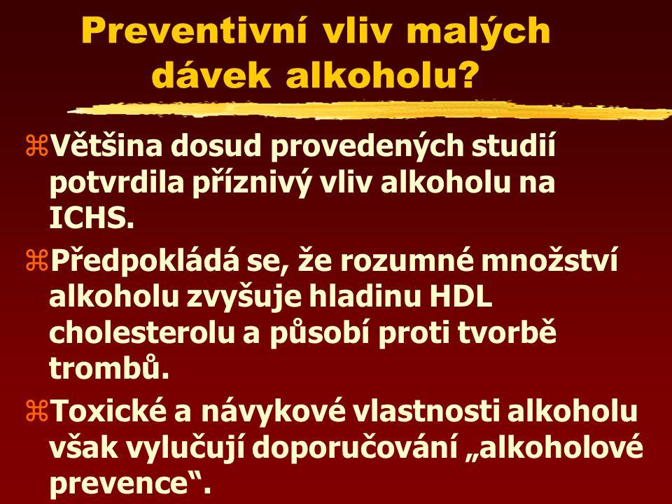 Preventivní vliv malých dávek alkoholu
