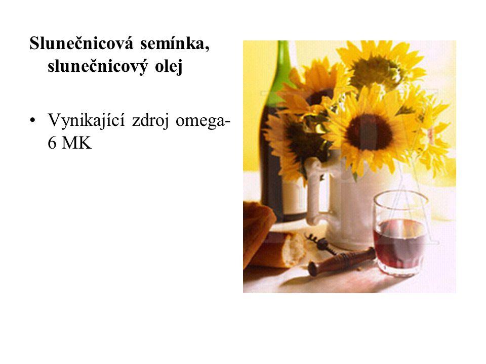 Slunečnicová semínka, slunečnicový olej