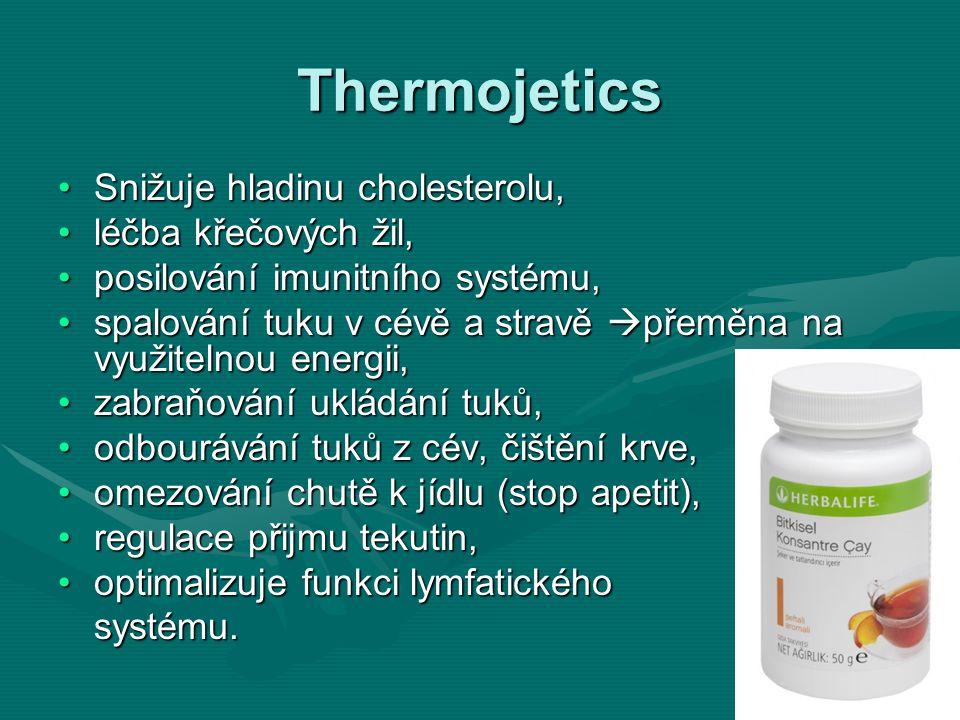 Thermojetics Snižuje hladinu cholesterolu, léčba křečových žil,